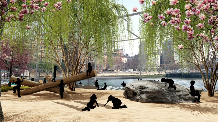 The project will feature Manhattan's first public beach