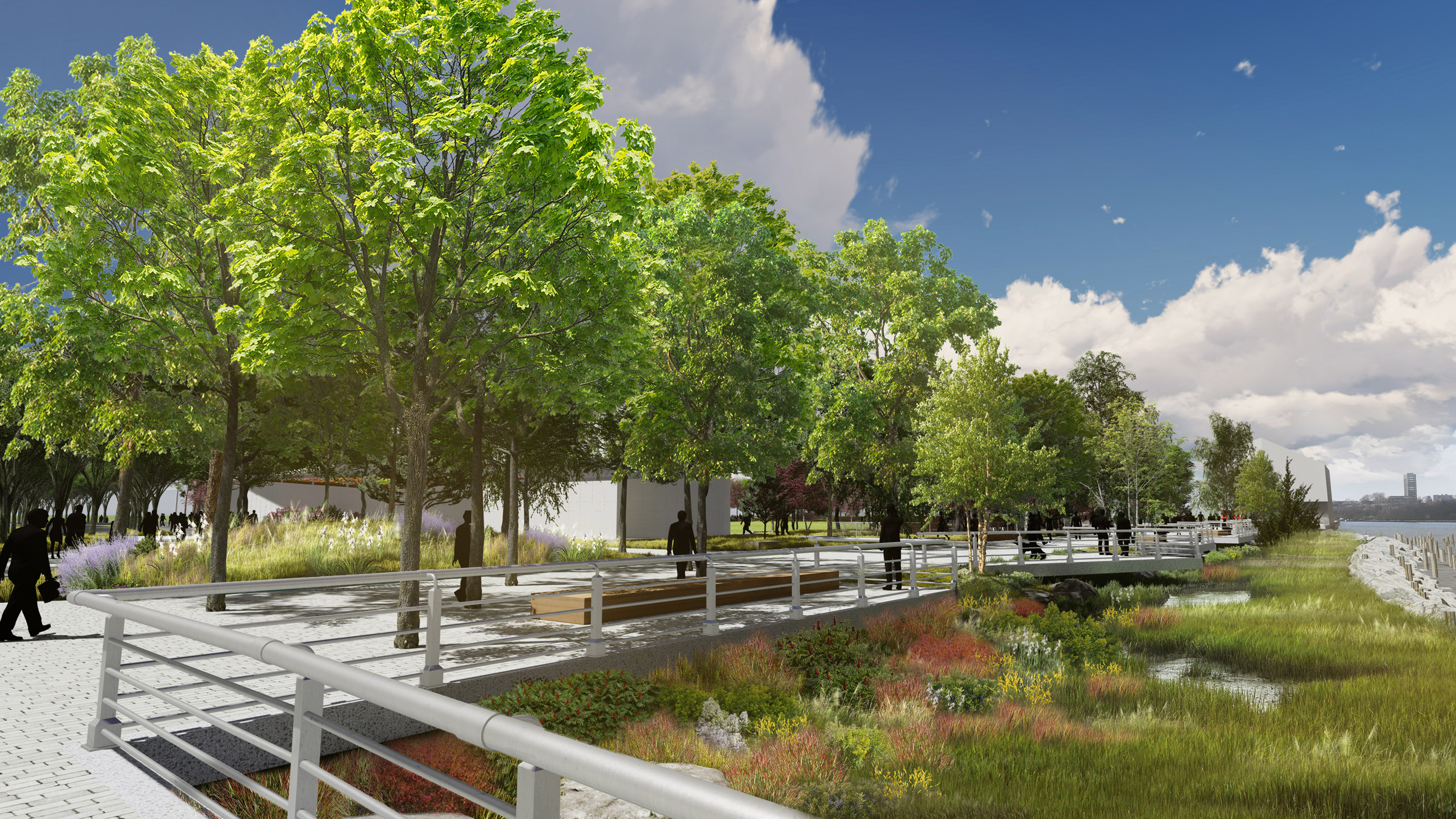 The project is by the Hudson River Park Trust