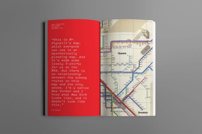 Pesan desain peta kereta bawah tanah New York oleh Gary Hustwit