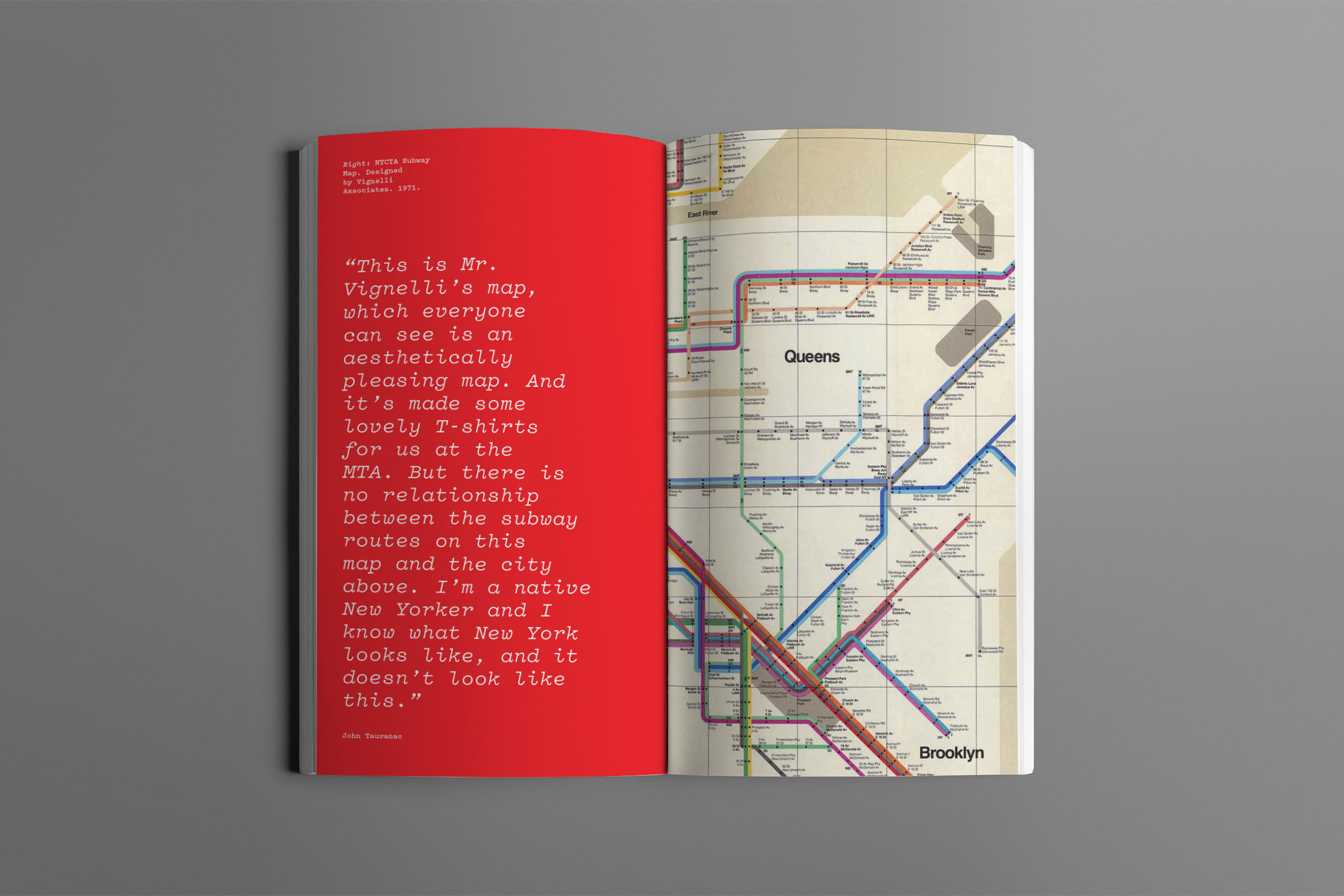 Book on the New York subway map design by Gary Hustwit