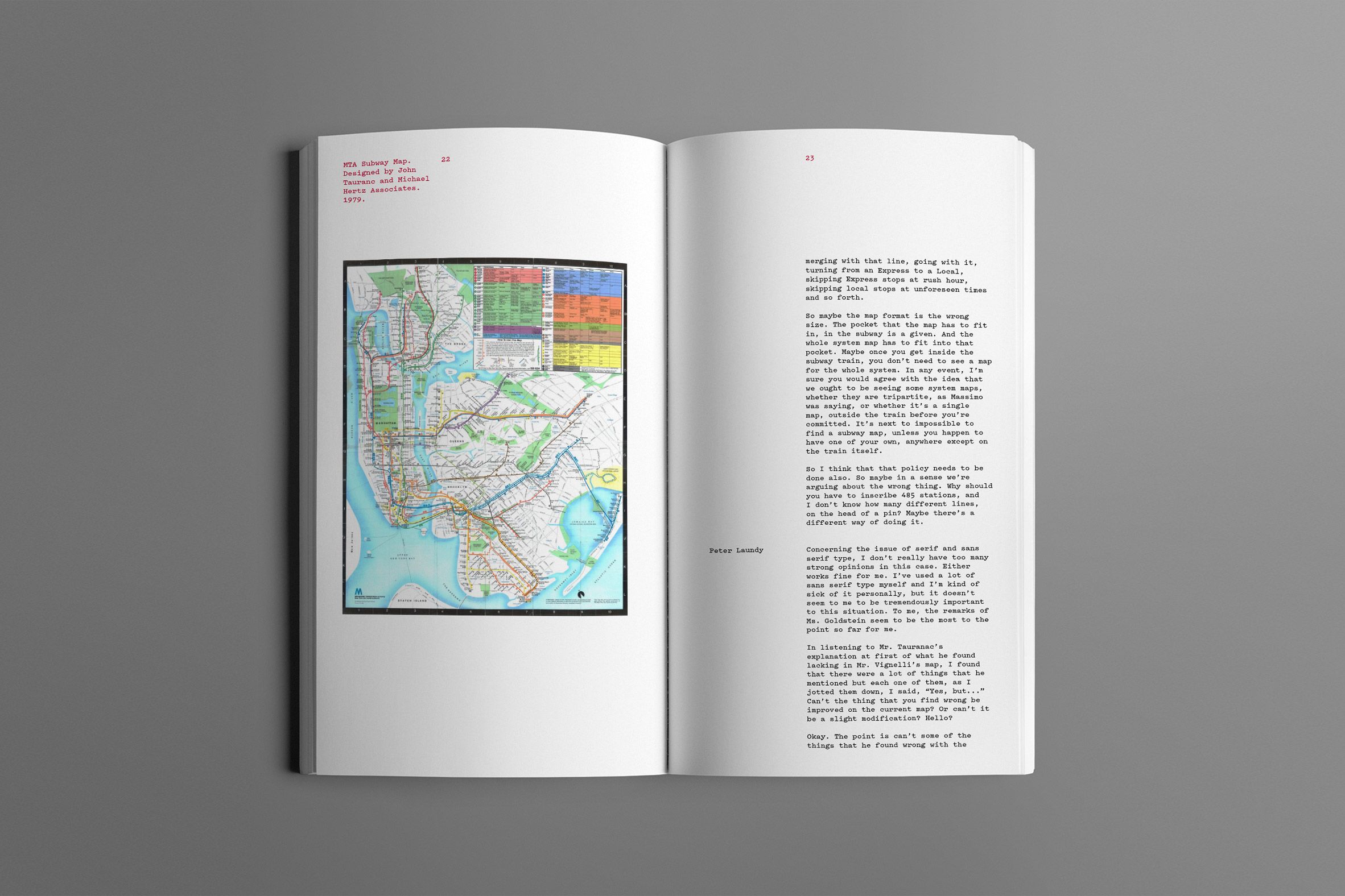 Pages of Gary Hustwit's new book on graphic design