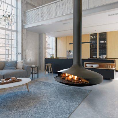 Gas Gyrofocus fireplace