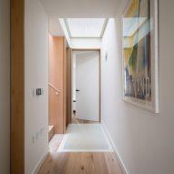 A white-walled corridor