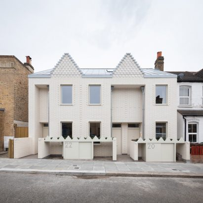 The white brick Ghost Houses by Fraher & Findlay