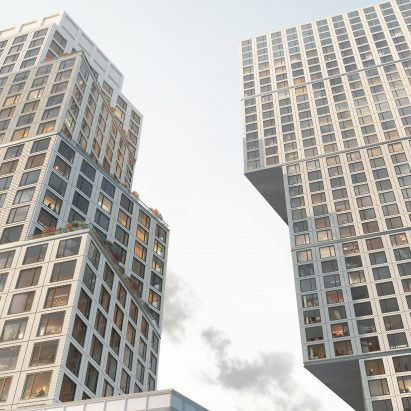 Skyscraper by Jason Long and OMA reaches full height in Brooklyn