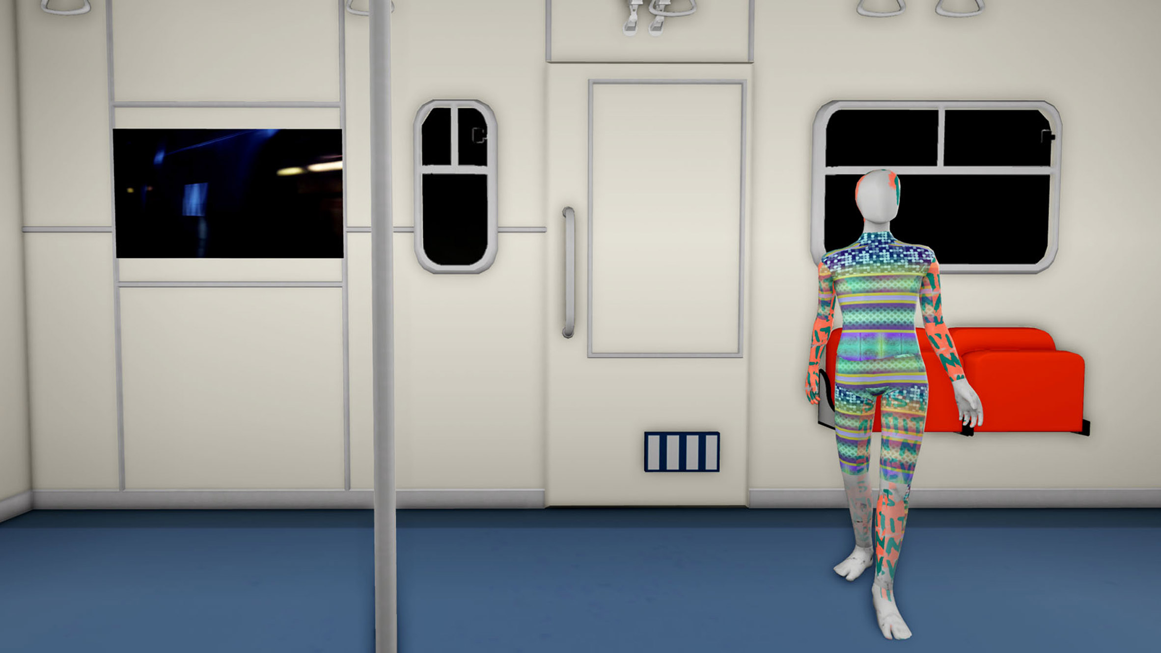 Virtual metro station in Gucci Garden digital exhibition