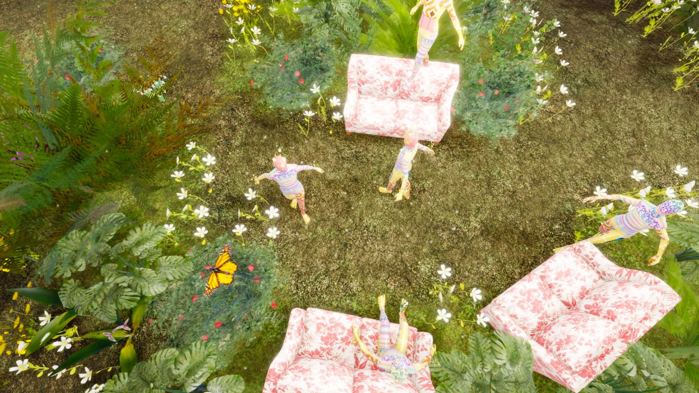 Gucci Garden virtual exhibition in Roblox