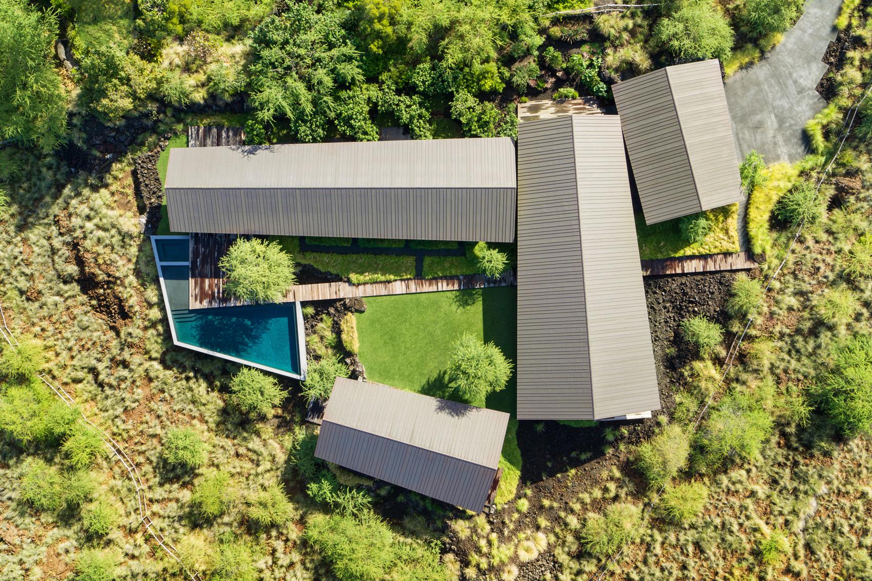 Hale Mau'u house from overhead