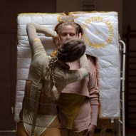 Lucy McRae creates cushion machine to offer lab-grown humans a womb experience