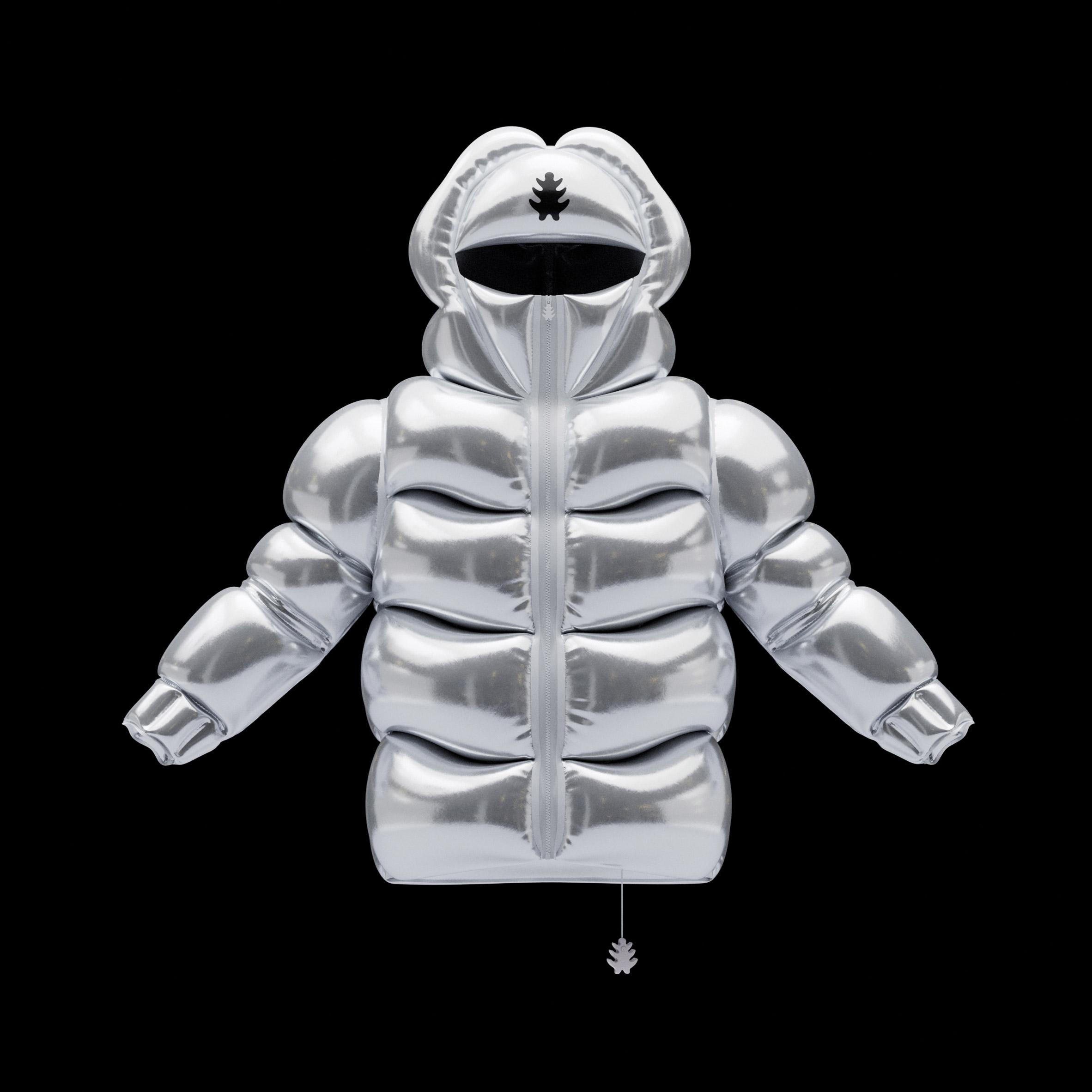 Helium-10000 jacket in silver