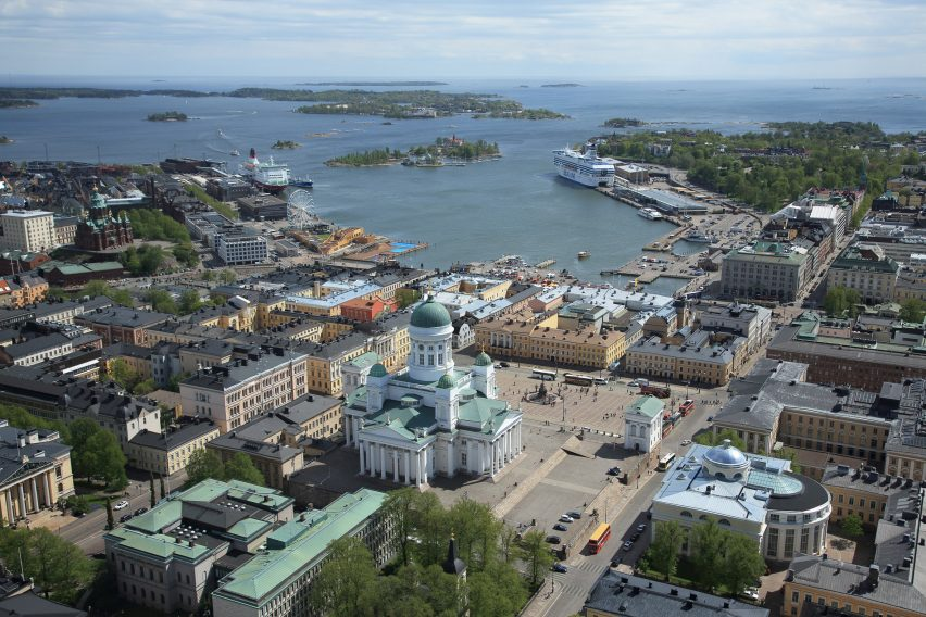 View across the Helsinki south harbour