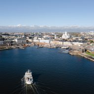 The Helsinki port is located in the south of the city
