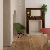 Wood flooring stretches across the living spaces