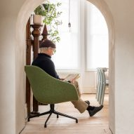 Arches in walls frame seating areas