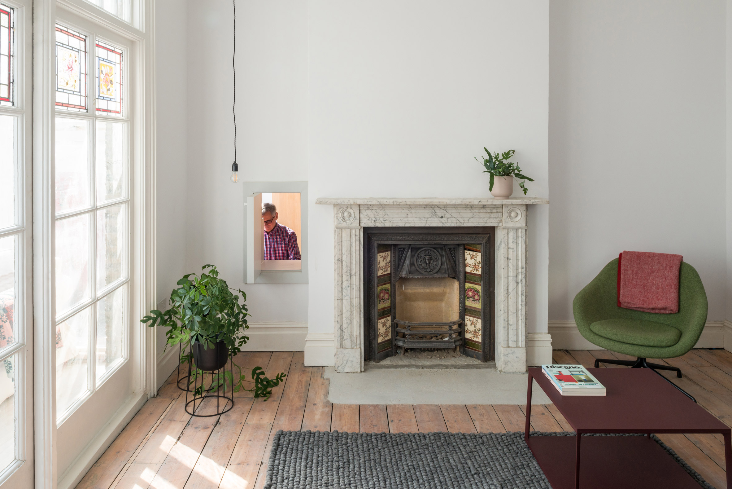 The living space employed a neutral finish