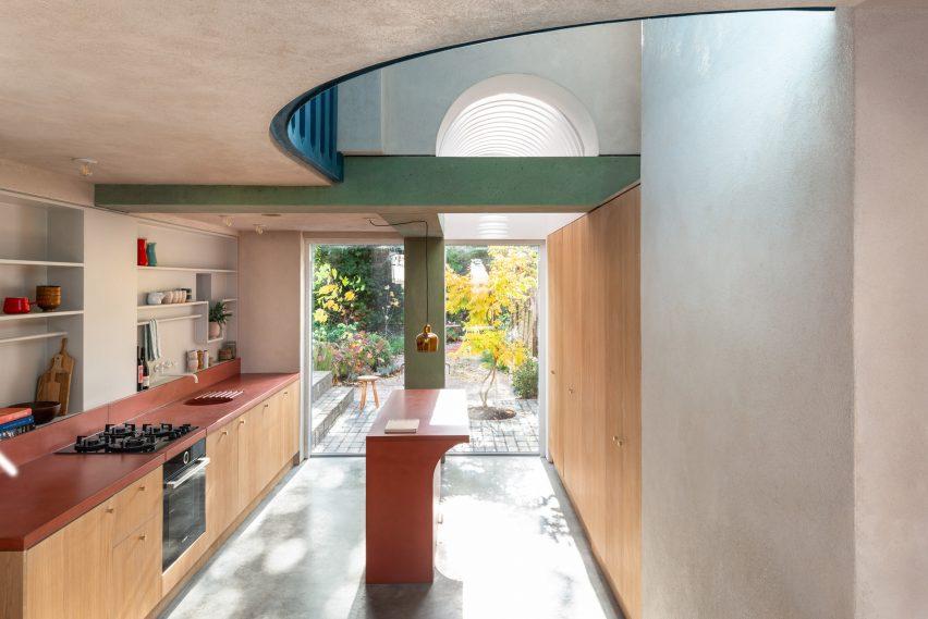 Floor to ceiling doors open onto the garden