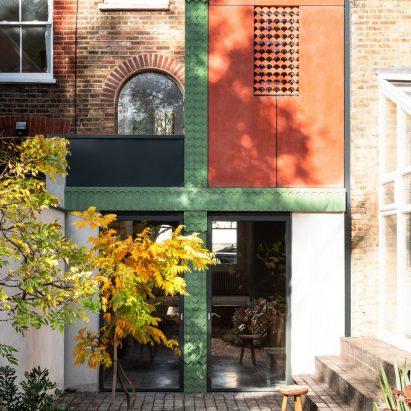 A colourful concrete-clad house