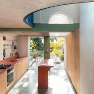 Studio Ben Allen casts pigmented concrete to create colourful surfaces inside House Recast