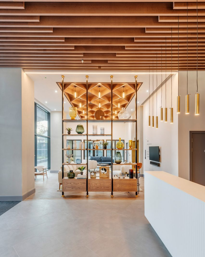 The interiors at Ten Degrees have a neutral look