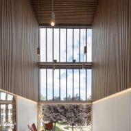 A double height space looks out to the surroundings