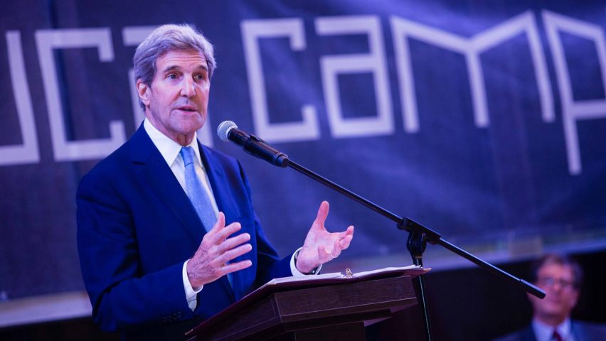 John Kerry at the opening of the American University