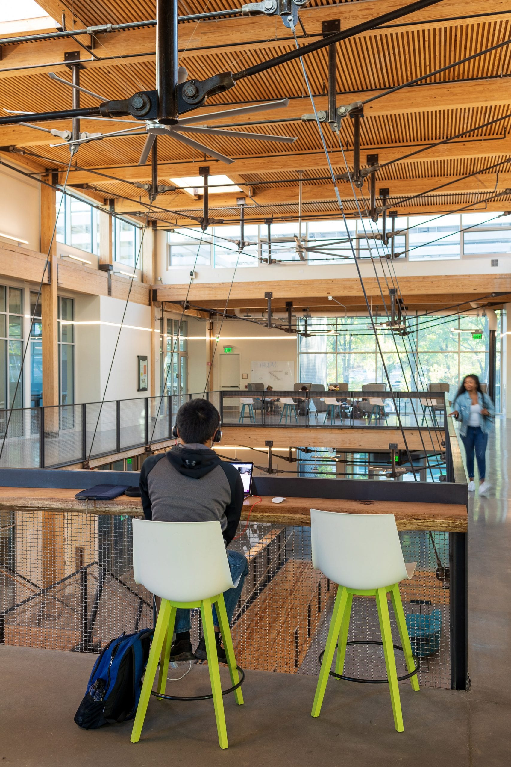 The university building is highly sustainable