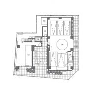 Ground floor plan of the residency