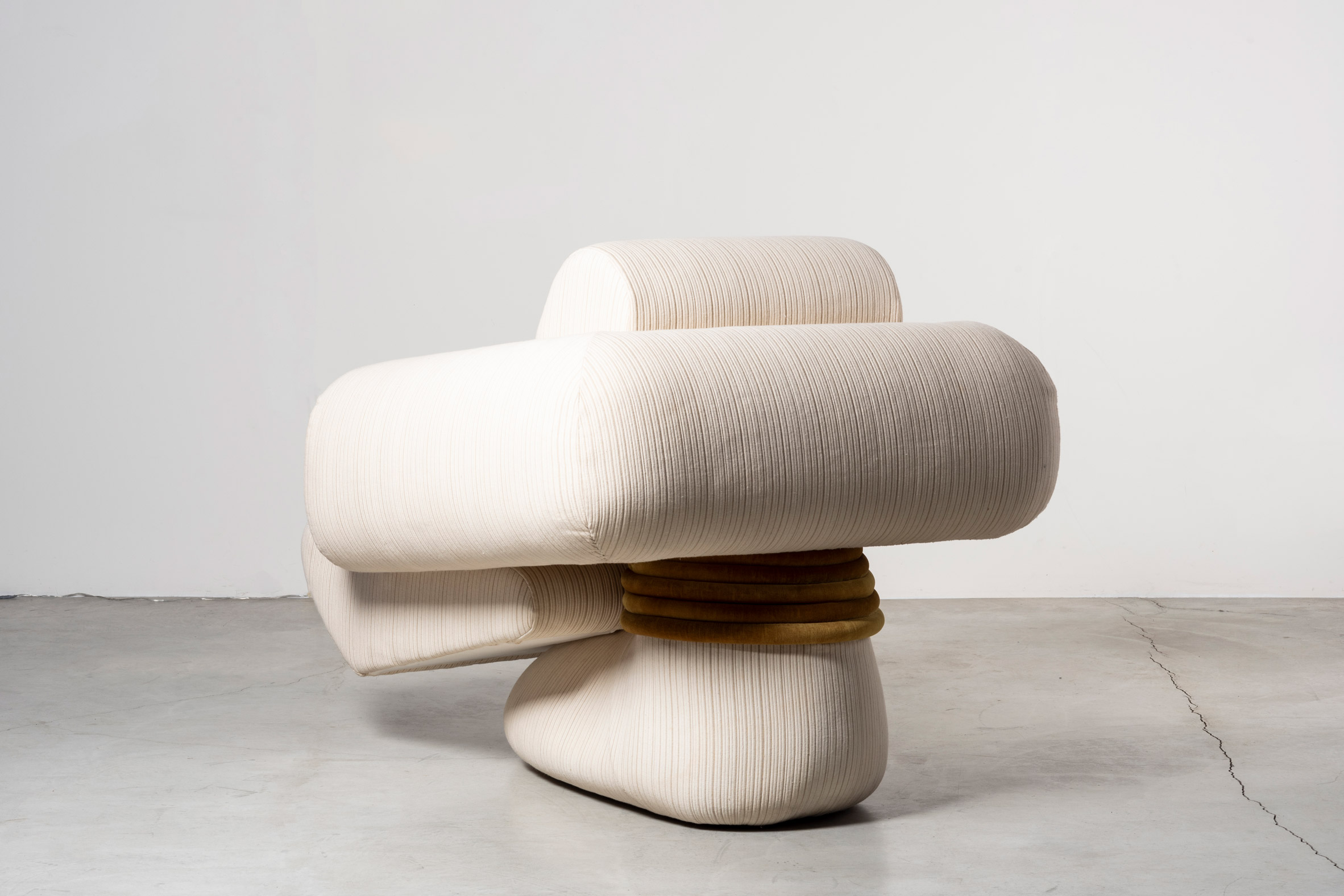 White abstract armchair