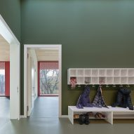 Storage was built for coats and shoes