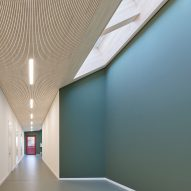Skylights were used in the corridors