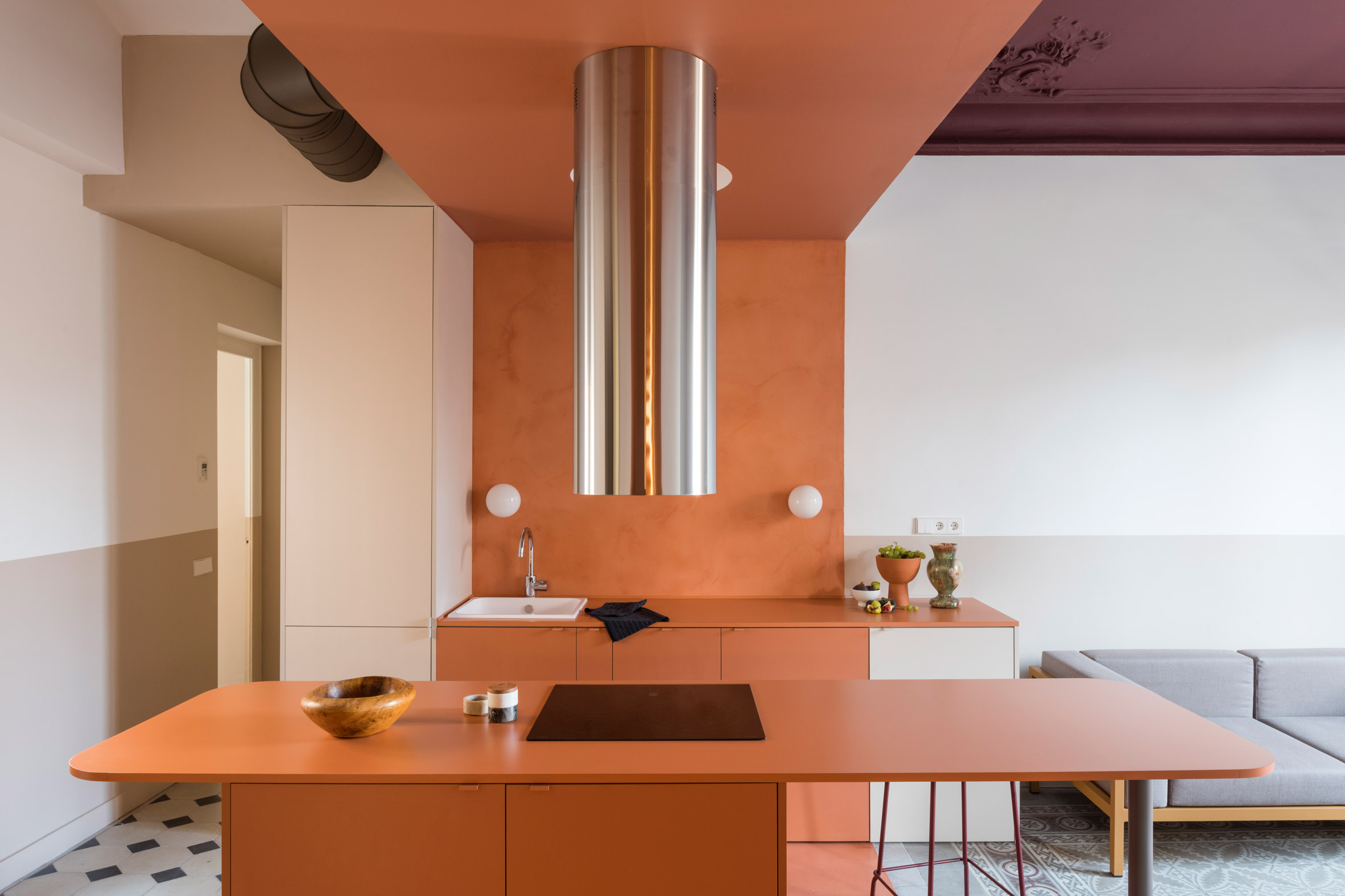 Orange Barcelona apartment