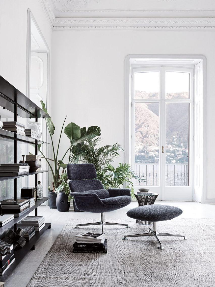 KN02 chair and KN03 ottoman