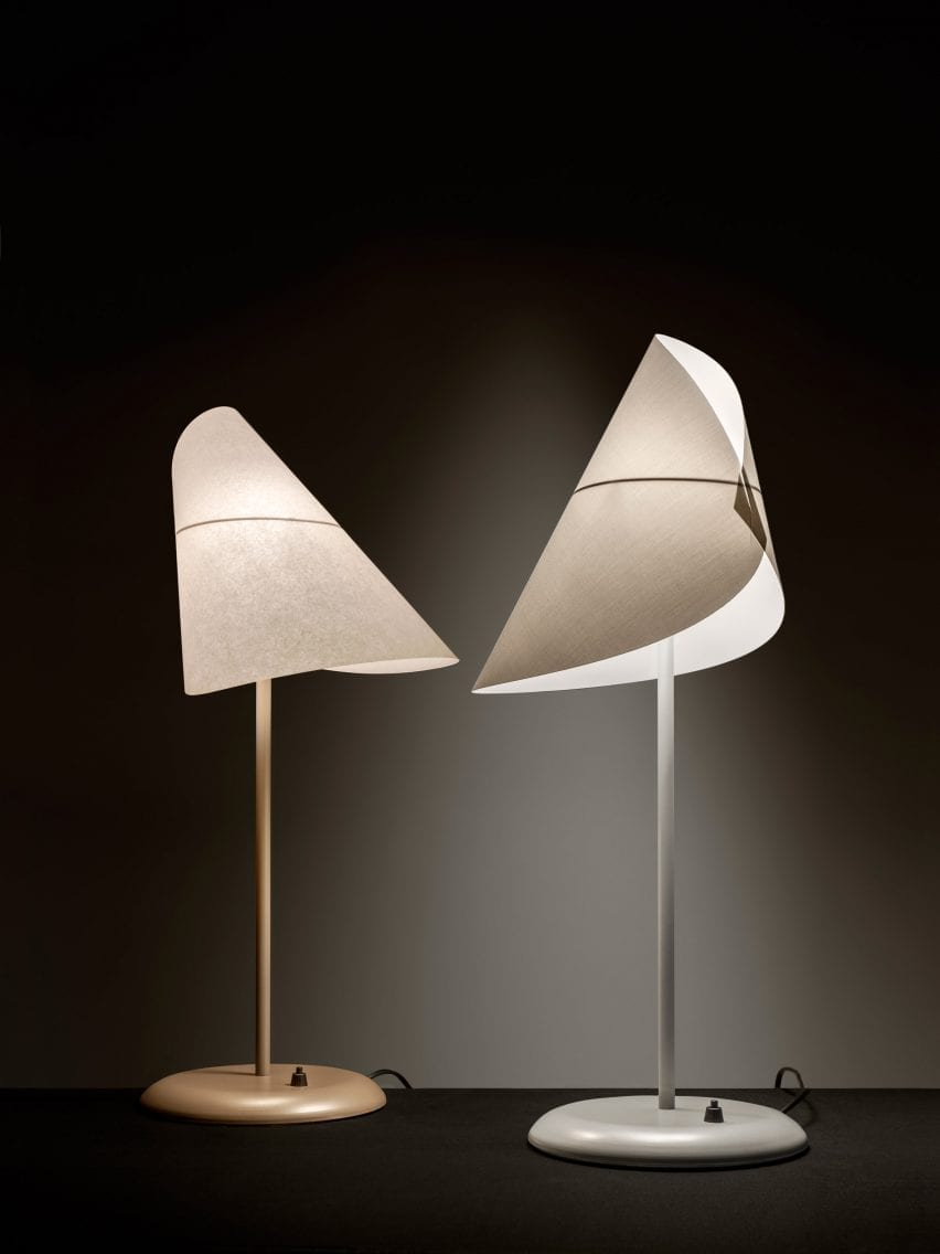 A pair of table lamps designed by Man Ray