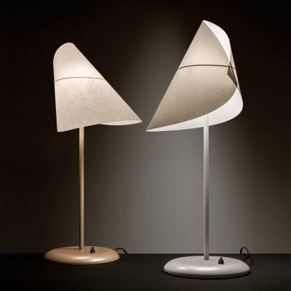 A pair of sculptural table lamps by Man Ray