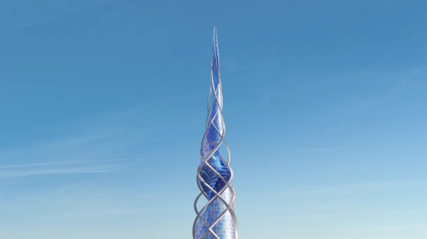 Render of the top of Lakhta Centre II for St Petersburg