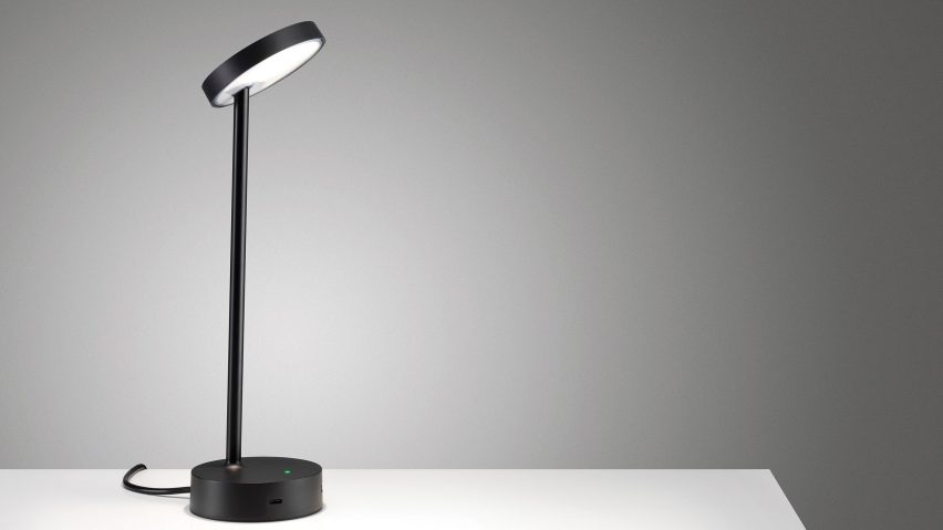 Black Lolly desk lamp by Colebrook Bosson Saunders