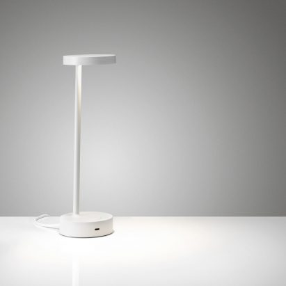 White desk lamp by Colebrook Bosson Saunders