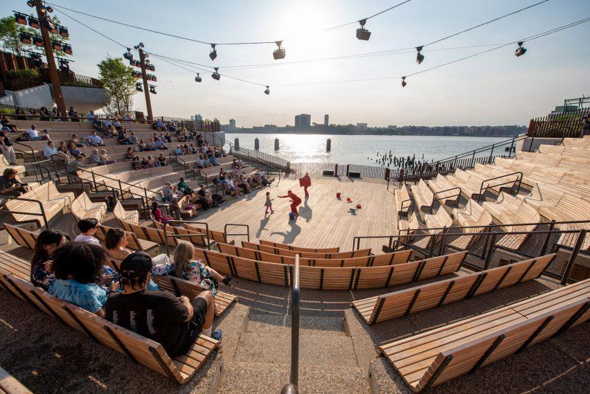 The 700-person amphitheatre on Little Island