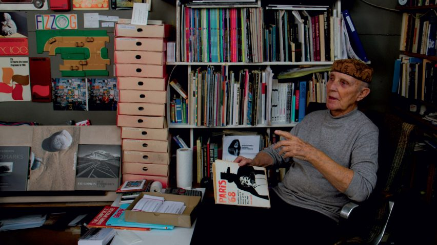 Ken Garland in his studio