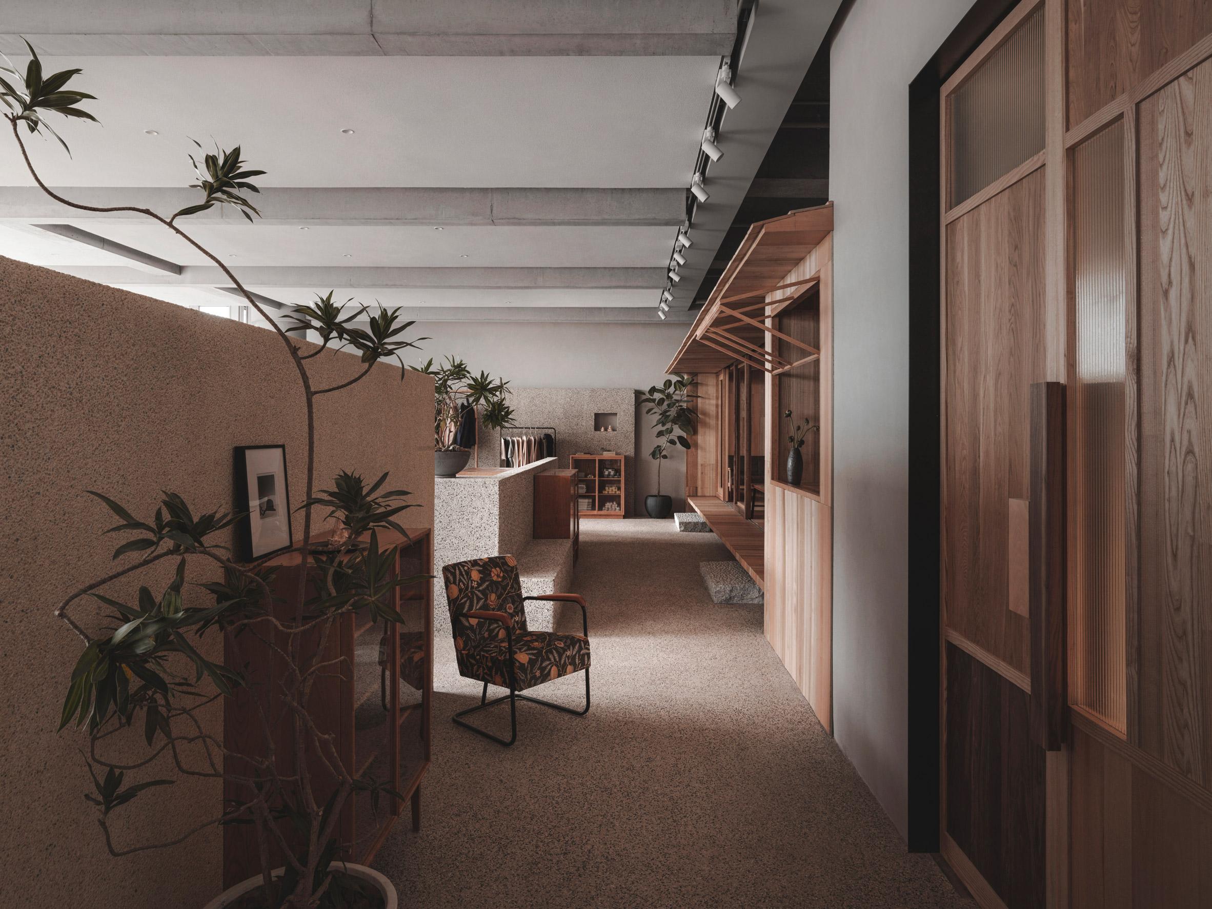Store interior by BLUE Architecture Studio