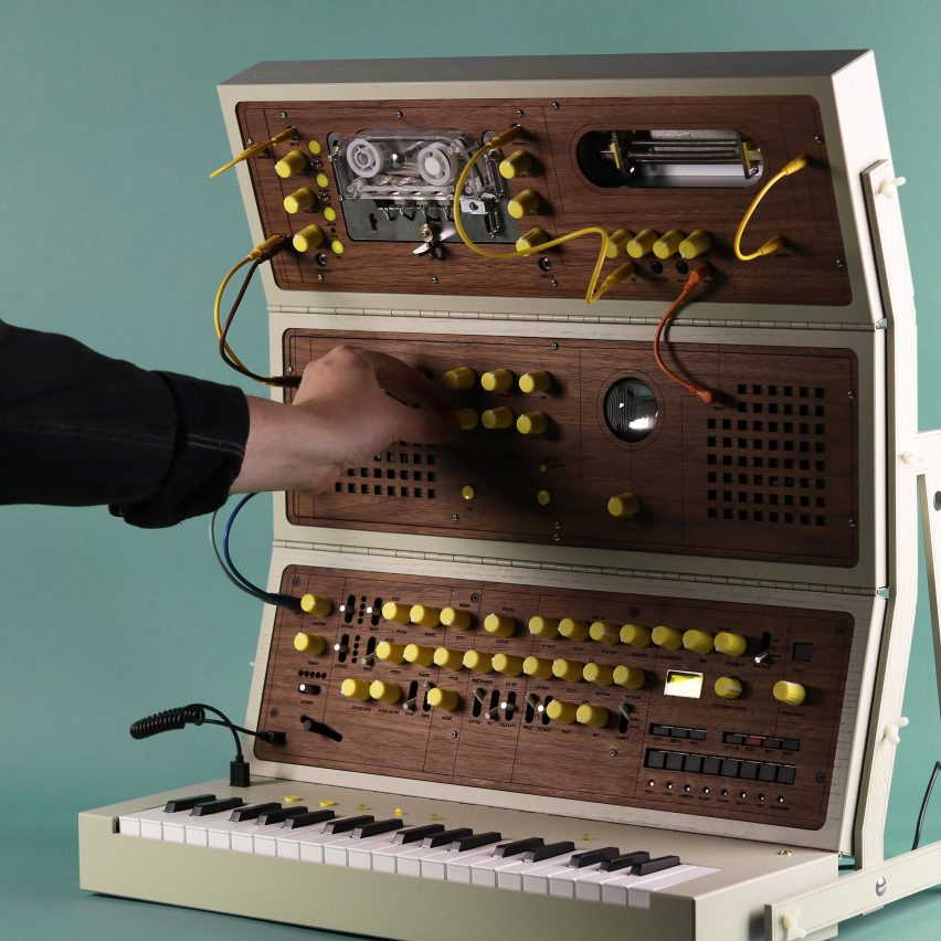 Love Hultén's MDLR-37 synthesiser takes the form of a fold-out wooden toolkit