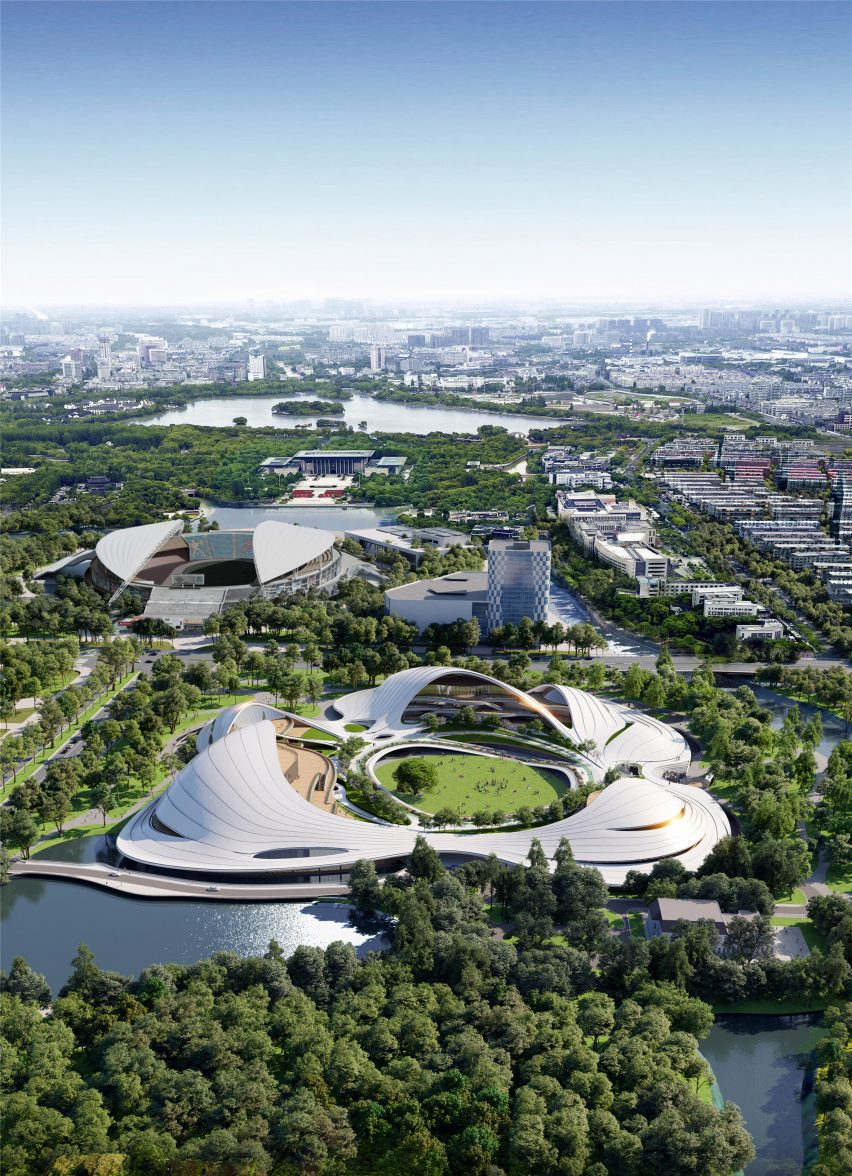 The Jiaxing Civic Centre designed by MAD