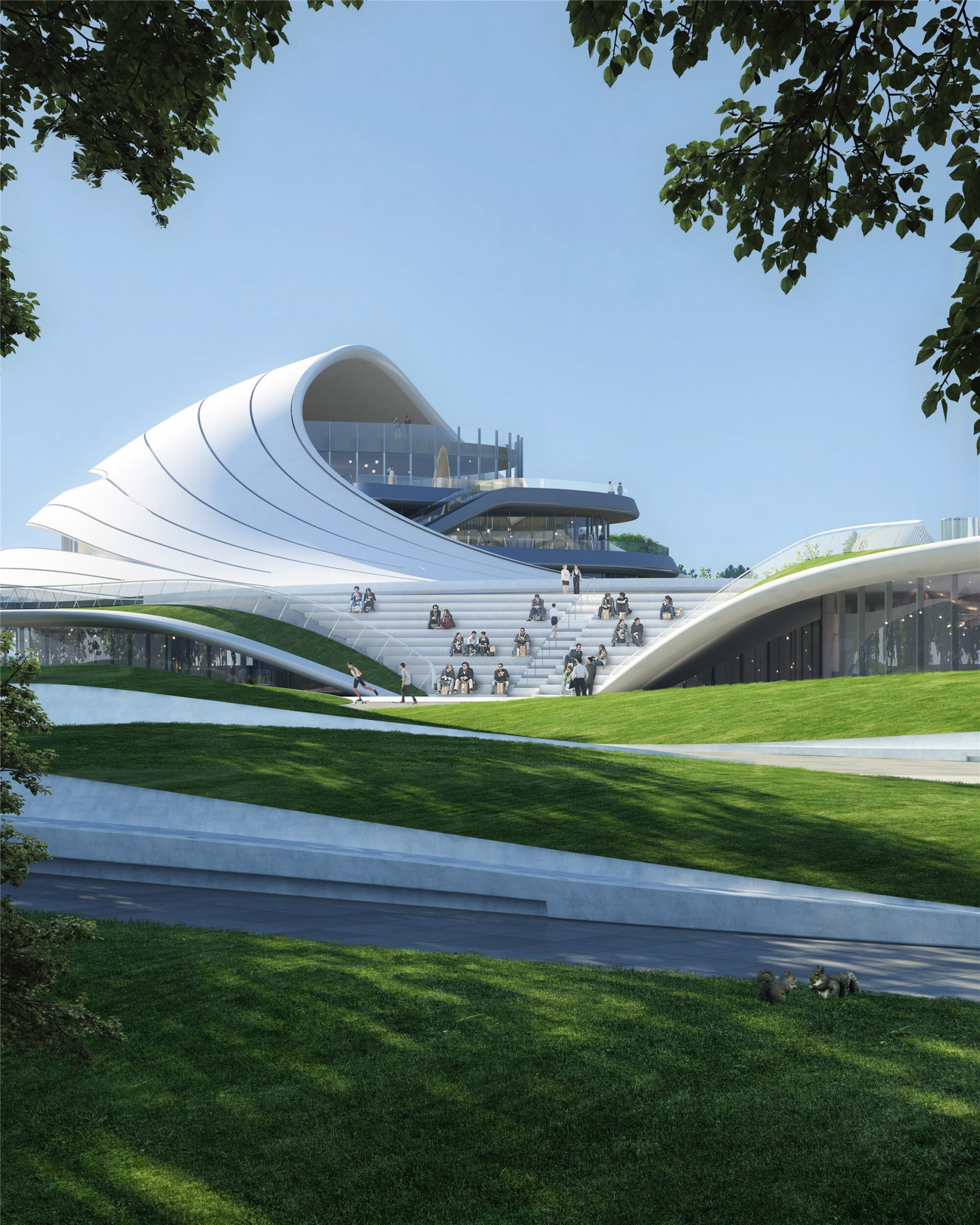 Jiaxing Civic Centre has amphitheatre-style seating