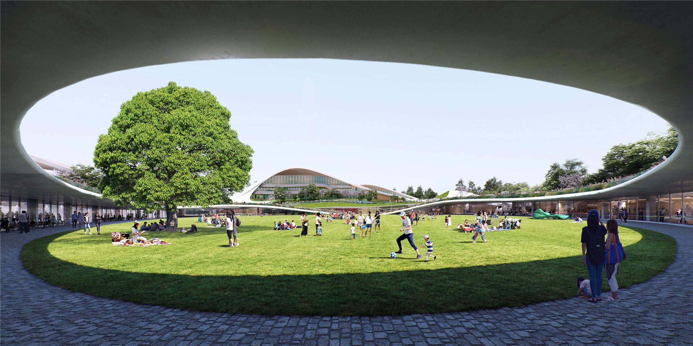 MAD designed the lawn as a public park