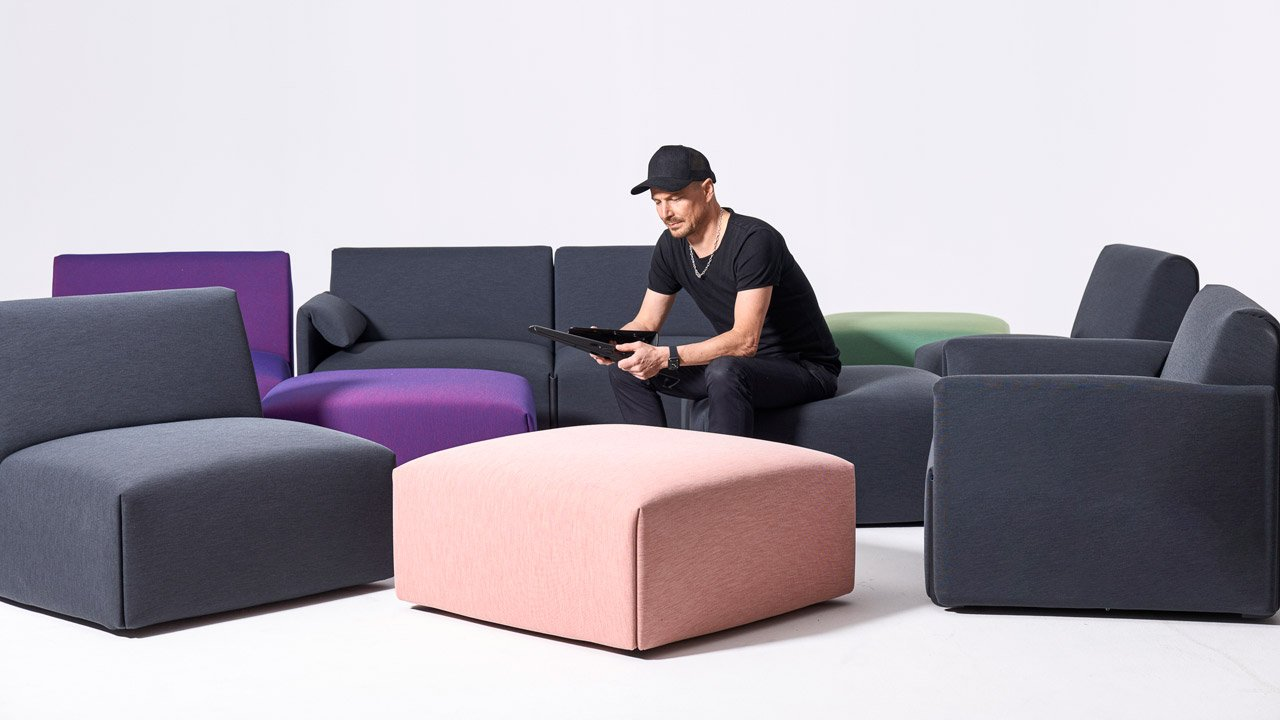 """Stefan Diez's Costume sofa for Magis is designed to """"rethink the traditional sofa system"""""""