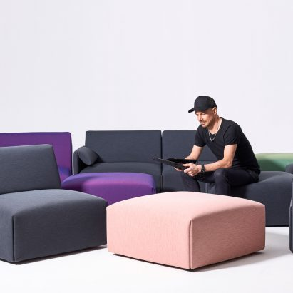 Stefan Diez's Costume sofa for Magis is designed to