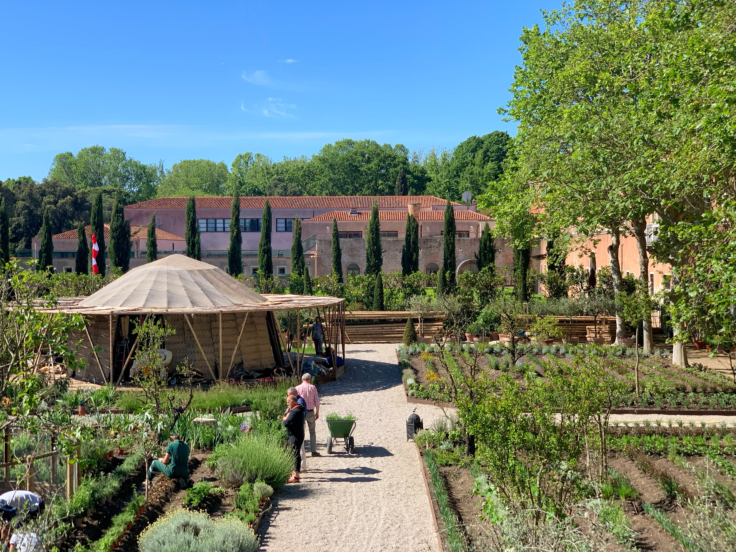 The Majlis and garden at Venice Architecture Biennale