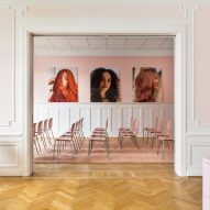 Pink meeting room for haircare brand