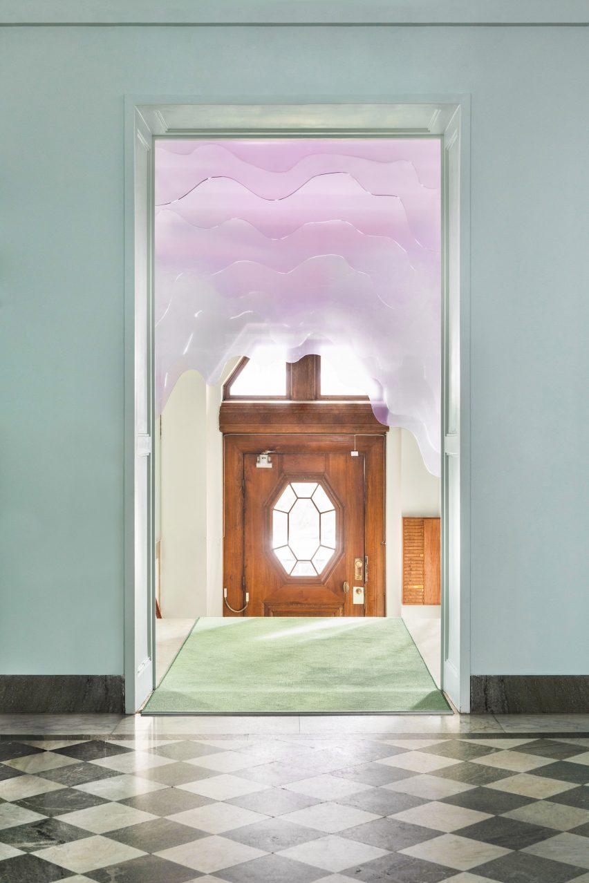 Art installation made of plexiglass