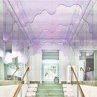 Plexiglass installation at hair brand headquarters